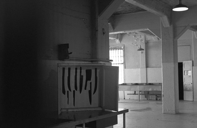 knife box in alcatraz kitchen