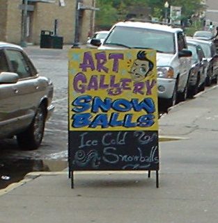 art gallery+snowball stand