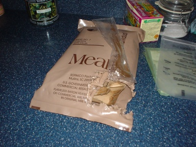 torn up MRE