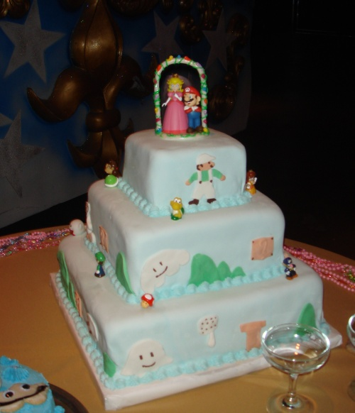 mario and princess cake